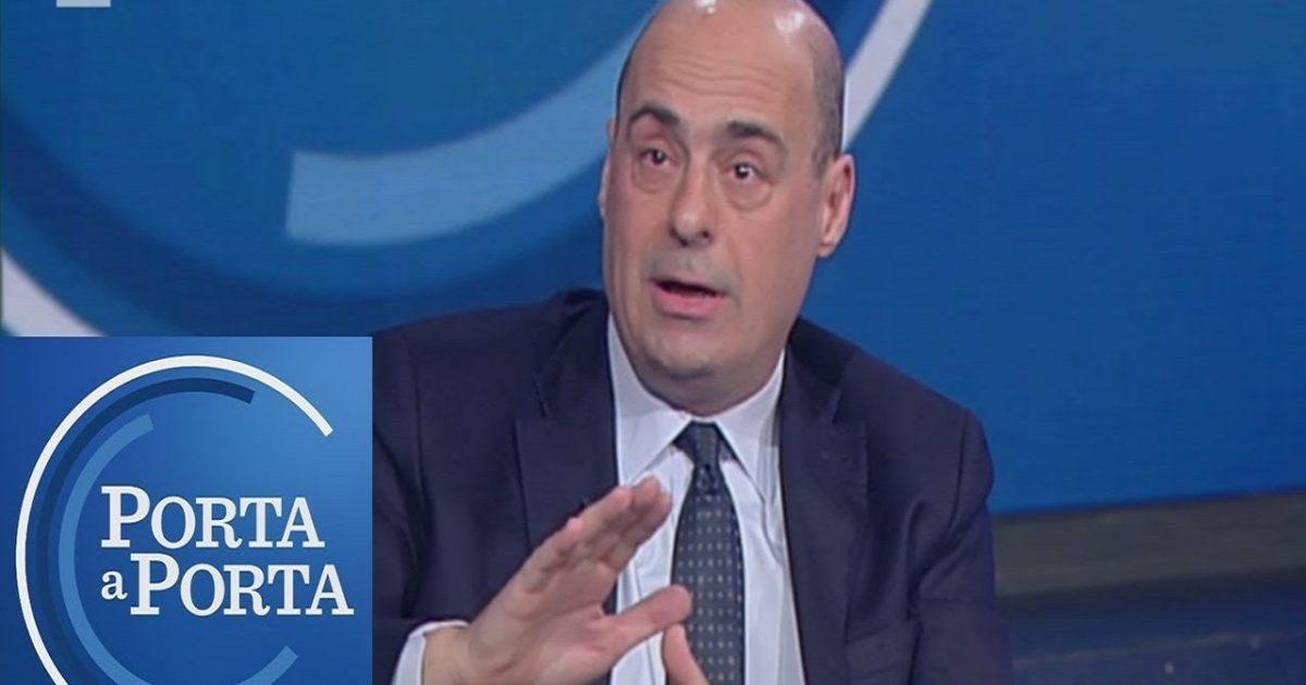 """Anticipazioni per """"PORTA a PORTA"""" di Bruno Vespa dell'11 settembre: ospite  Nicola Zingaretti - La Notizia"""