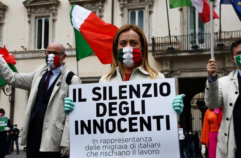 Giorgia Meloni protesta contro la Fase 2: troppe le categorie a ...