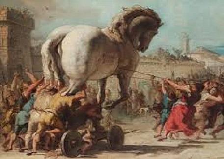 passato e presente il cavallo di troia